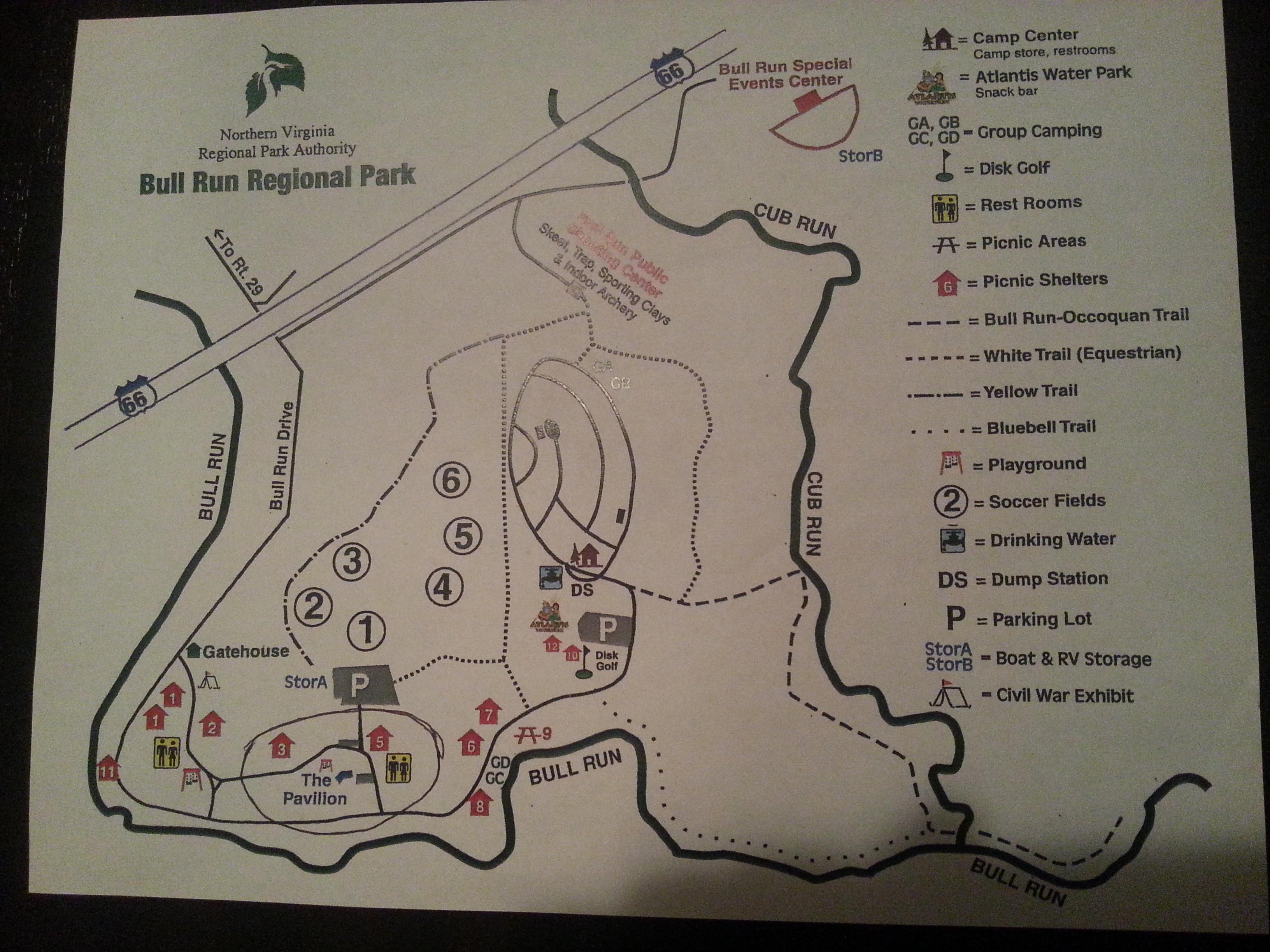 bull run park map